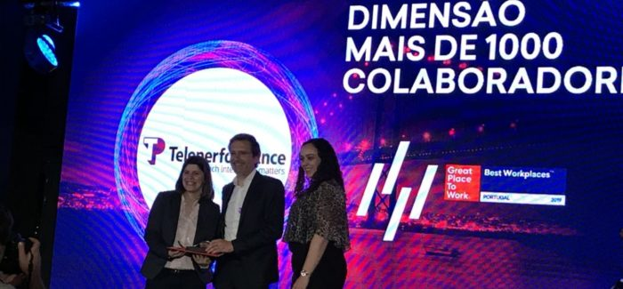 Teleperformance mais uma vez na elite dos vencedores do Great Place to Work® Portugal